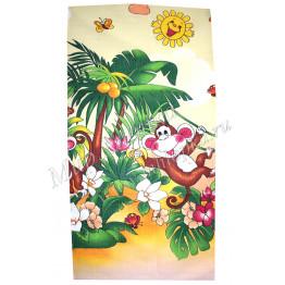 Полотенце вафельное цветное детский рисунок 38*75 арт. СП03