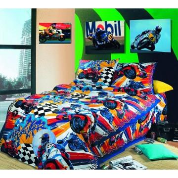 """Комплект постельного белья АД """"Мотокросс"""" подростковое - 672.00"""