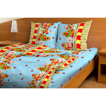 Комплект постельного белья Мишка-огородник Красная Талка