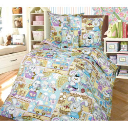 """Детский комплект постельного белья """"Зайкин дом"""" ТексДизайн"""