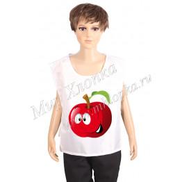 """Жилет принт """"Красное яблоко"""" арт. КС282"""