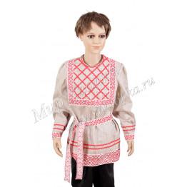 Народная рубашка лён Иван-Купала арт.КС323