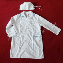 Детский костюм врача (халат+колпак) Тиси арт. КС32