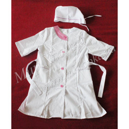 Детский костюм врача (халат+колпак) Тиси арт. КС07