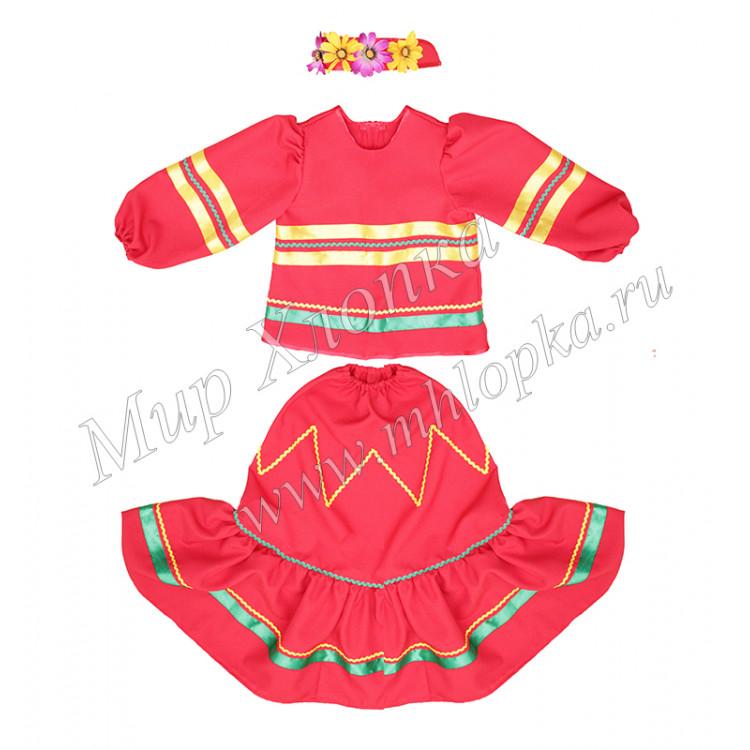 """Детский костюм для танцев """"Казачка донская"""" купить в ... Донская Казачка Костюм"""