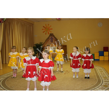 """Костюм для танцев """"Кукла"""" для девочки арт. КС114"""