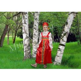 """Костюм для танцев """"русские народные"""" для девочки арт. КС43"""