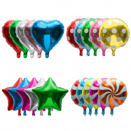 Фольгированный шар разной формы с гелием