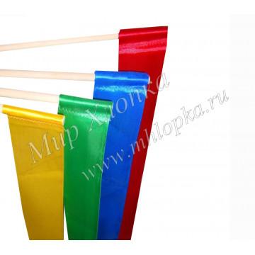 Лента гимнастическая шир. 5 см на деревянной палочке 2м - 66.00